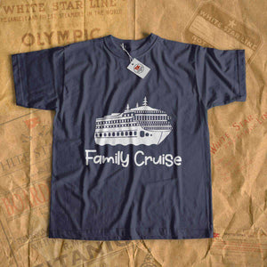 Family cruise t-shirt, personalized gift, custom name tshirt. Gift for all family - mom, dad, son, daughter-T-shirt new-Printify-cruise-sea-ocean-nautical-tee-shirt-tshirt-Titanic shop