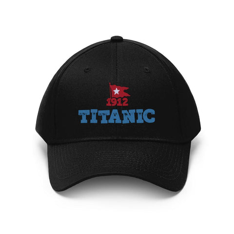 Heather black Titanic vintage trucker hat, RMS Titanic baseball cap, embroidery design retro hat, personalize fan gift-Hats-Printify-titanic-big-ship-cruise-boy-gift-Titanic shop