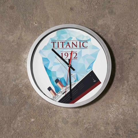 History lover wall clock, Titanic customized clock, kitchen wood clock vintage-Wall clock-Printify-titanic-big-ship-cruise-boy-gift-Titanic shop
