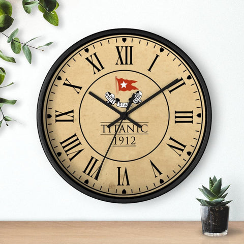 Titanic 1912 wall clock, white star line wooden wall clock, retro wall clock - vintage wall clock gift for boy 6 8 year