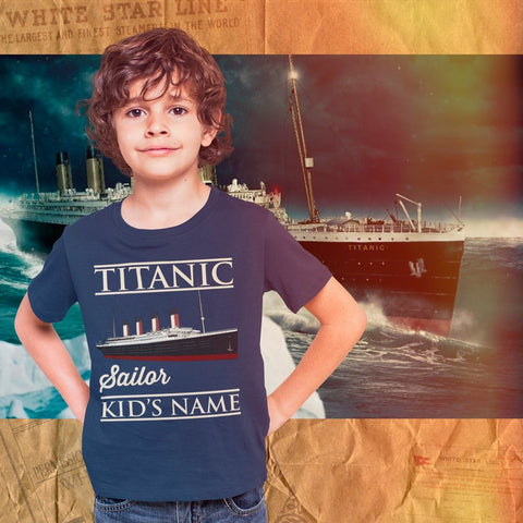 Sailor Titanic custom name shirt, handmade personalized tshirt, custom printed tee - gift for boy and girl, mom & dad