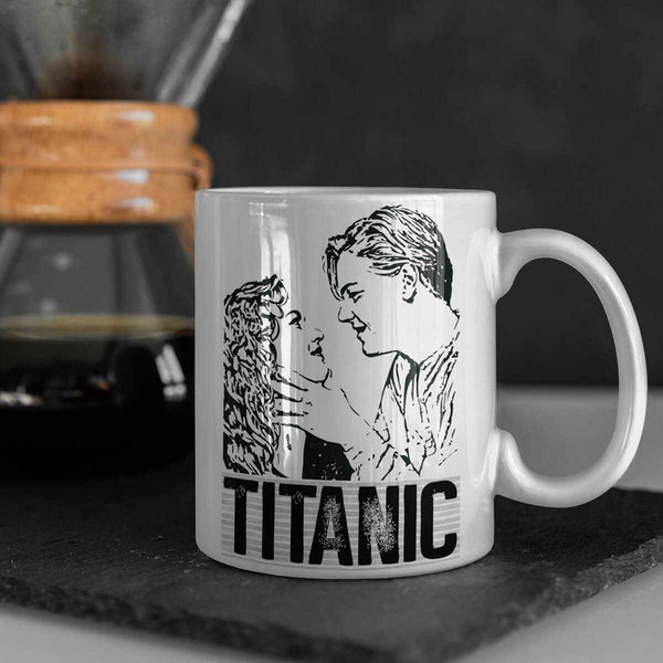 Jack and Rose water bottle, Titanic latte mug, custom can holder with cruise liner design, gift for her, gift for him-Mug-Titanic shop-latte-mug-water-bottle-tumbler-can-holder-Titanic shop