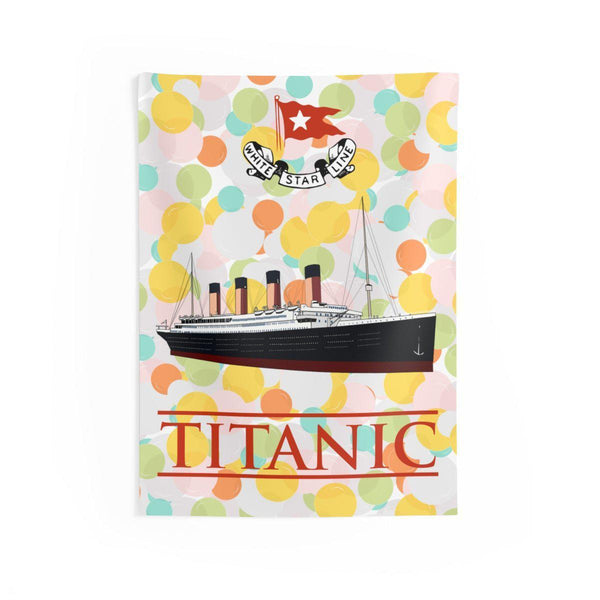 Kids Titanic wall art, indoor wall tapestries, wall decor for boys bedroom, gift for teen boy-Wall art wallaper-Printify-titanic-big-ship-cruise-boy-gift-Titanic shop