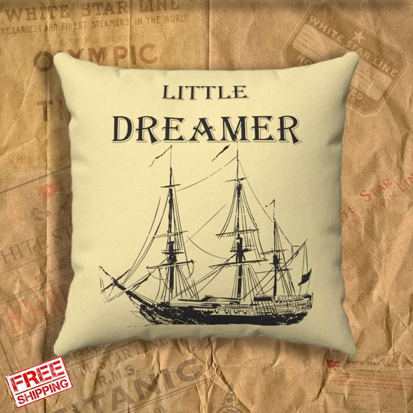 Little dreamer designer pillow covers, Faux Suede Square Pillow, decorative throw pillow covers 18x18, gift for boy 6 7 8-Square pillow-Titanic shop-titanic-square-body-pillow-Titanic shop