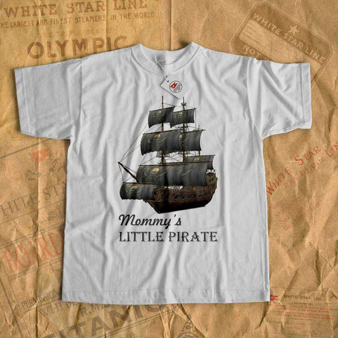Mommy's little pirate - name kids shirt, personalized t shirt, personalized gift. Custom tee shirt for boy, gift for son-T-shirt new-Printify-cruise-sea-ocean-nautical-tee-shirt-tshirt-Titanic shop