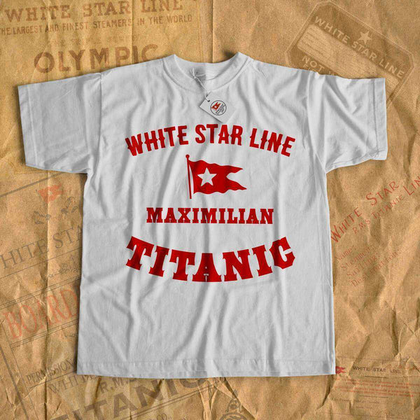 Name kids shirt - Titanic vintage t shirt, white star line tees. Titanic birthday party tshirt, vintage clothes-T-shirt new-Printify-cruise-sea-ocean-nautical-tee-shirt-tshirt-Titanic shop