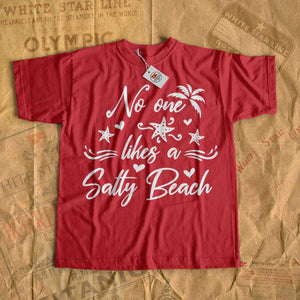 No one likes a salty beach t shirt, ocean cruise t-shirt, beach tee shirt for boy and girl-T-shirt new-Printify-cruise-sea-ocean-nautical-tee-shirt-tshirt-Titanic shop