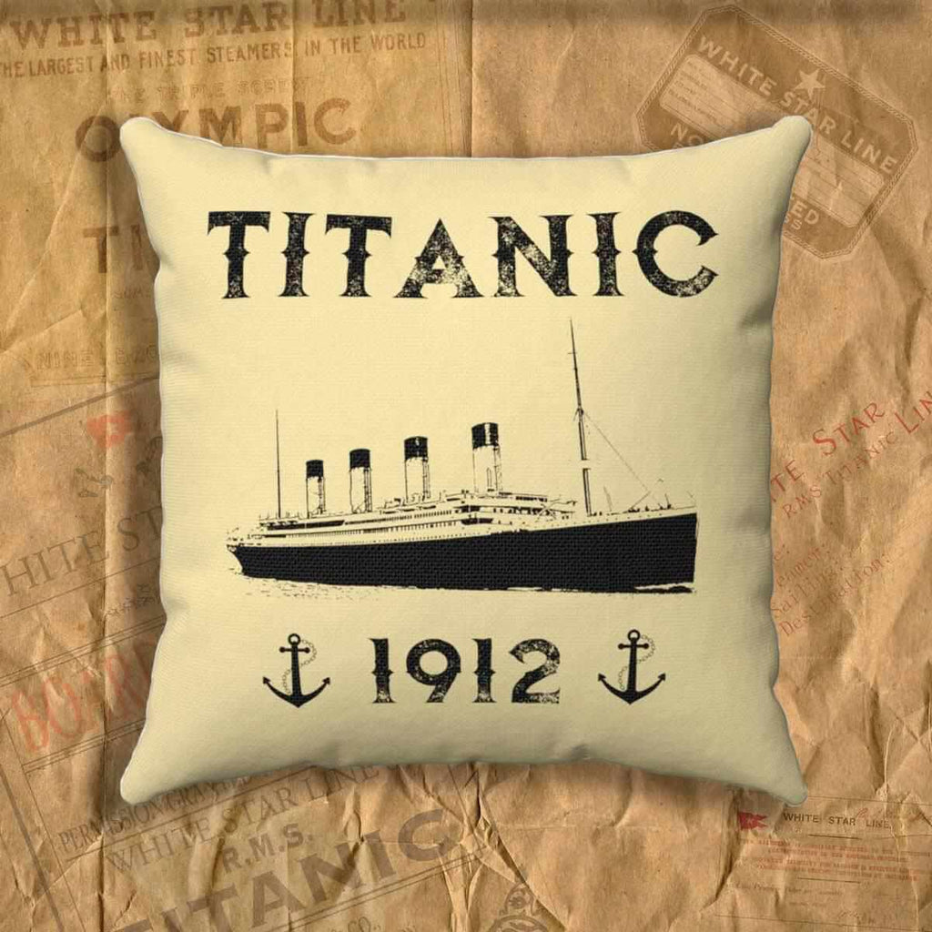 Old Ship Personalized Pillow Cover Titanic 1912 Anchor Throw Pillow Titanic Shop