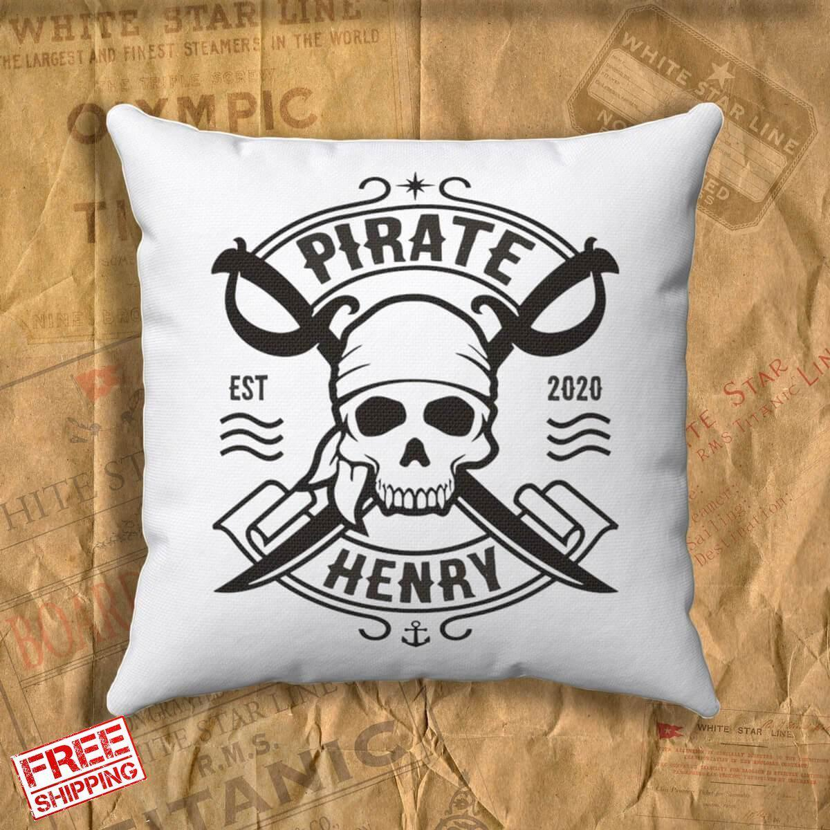 Personalized pillow & case, kids name custom pillow, designer pillow covers, personalized gift for boy 6 7 8 years old-Square pillow-Titanic shop-titanic-square-body-pillow-Titanic shop