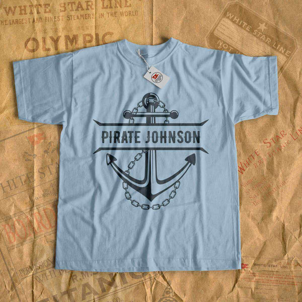 Personalized shirt, pirate name kids shirt, personalized gift for boy, mom, dad, sister and brother-T-shirt new-Titanic shop-cruise-sea-ocean-nautical-tee-shirt-tshirt-Titanic shop