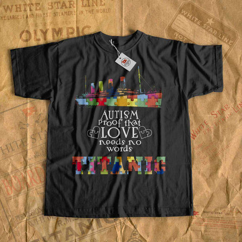 R.M.S Titanic autism awareness t shirt kids, awareness shirt for boy, history tees for color puzzle Titanic-T-shirt new-Titanic shop-autism-awareness-Titanic-Titanic shop