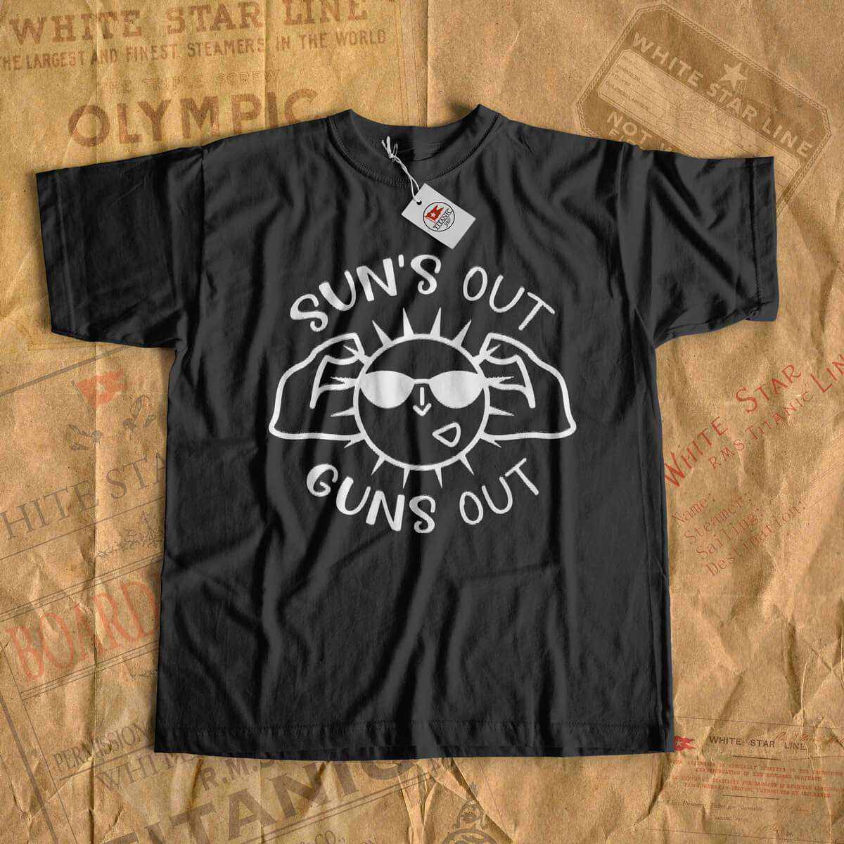 Suns out - guns out - summer cruise t-shirt, tshirt for men and women, gift for kids-T-shirt new-Printify-cruise-sea-ocean-nautical-tee-shirt-tshirt-Titanic shop