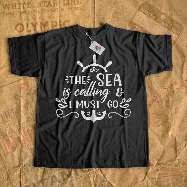 The sea is calling & i must go - sea cruise t-shirt for girl and boy-T-shirt new-Printify-cruise-sea-ocean-nautical-tee-shirt-tshirt-Titanic shop