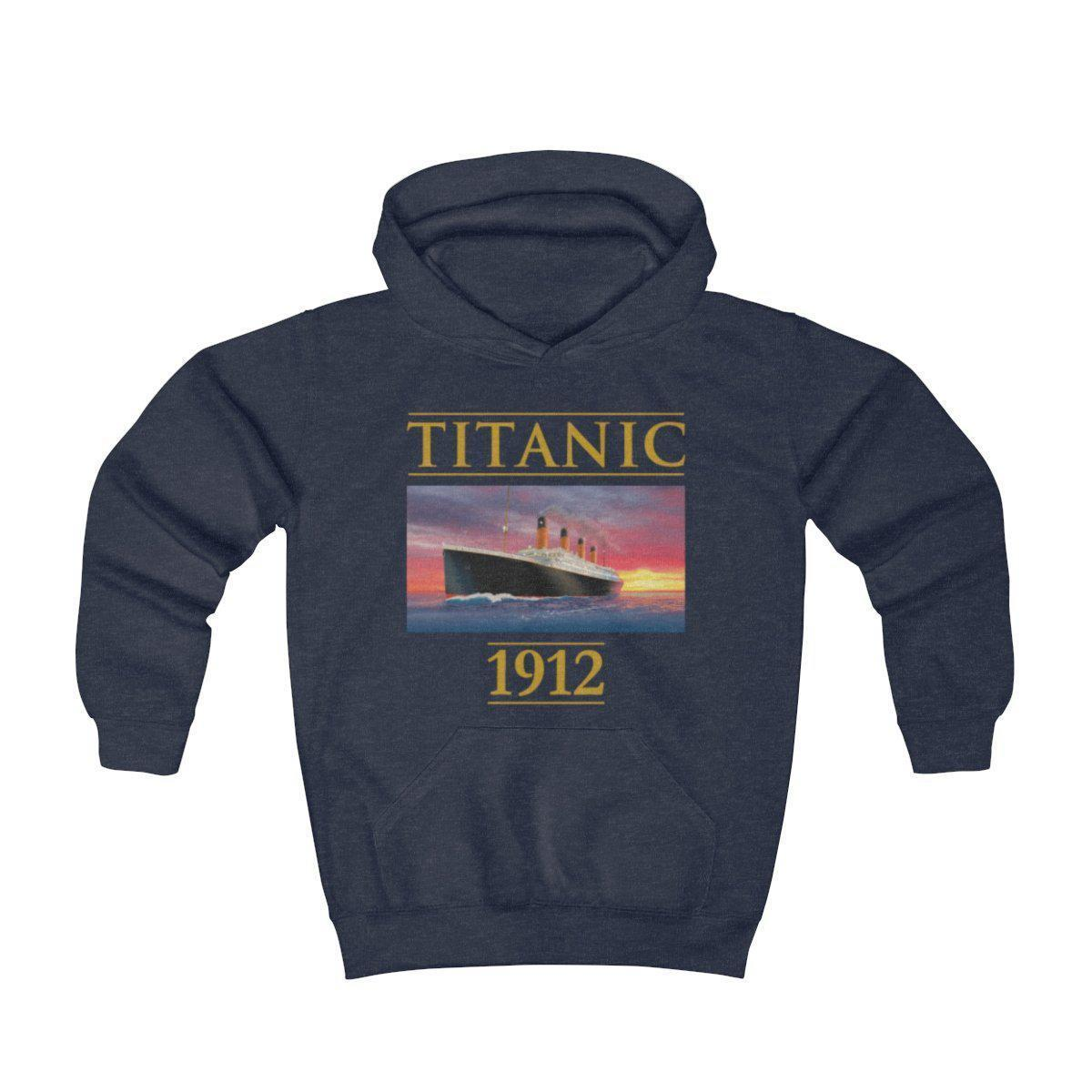 Titanic 1912 rare vintage pullover, iceberg and old cruise liner hoodie, gift for Titanic fan-Hoodie-Printify-titanic-hoodie-sweatshirt-kids-Titanic shop