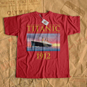 Titanic 1912 rare vintage t shirt, iceberg and old cruise liner design, gift for Titanic lover, Titanic fan-T-shirt new-Titanic shop-titanic-tee-shirt-tshirt-1912-Titanic shop