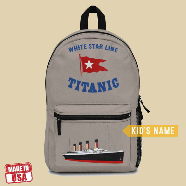 Titanic backpacks for college & school, school book bag, gift for pupil-School backpack-Printify-titanic-school-tote-bag-backpack-duffel-drawstring-white-star-line-Titanic shop