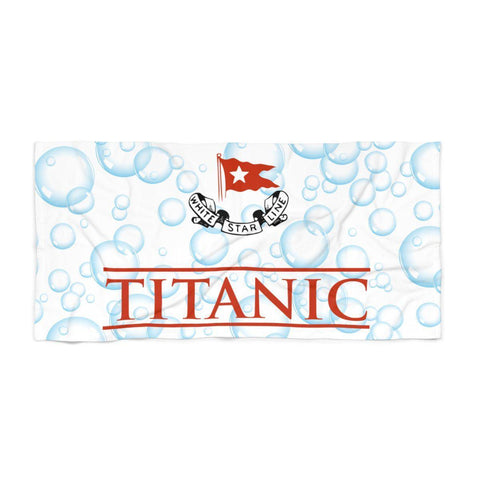 Titanic beach towel, funny beach towel with white star, kid beach towel, teen boy gift-Beach towel small-Printify-titanic-big-ship-cruise-boy-gift-Titanic shop
