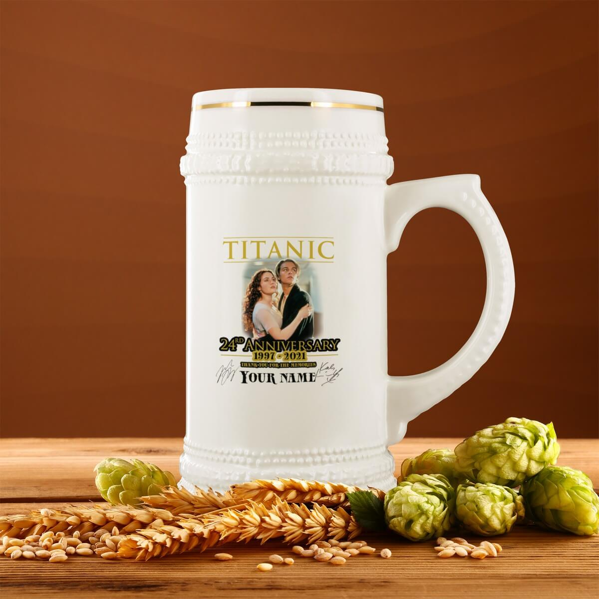 Titanic 3rd Class Beer Mug, Personalized Beer Stein, Beer Lover Gift, Ceramic Beer Mug, gift for history buff - Titanic lover
