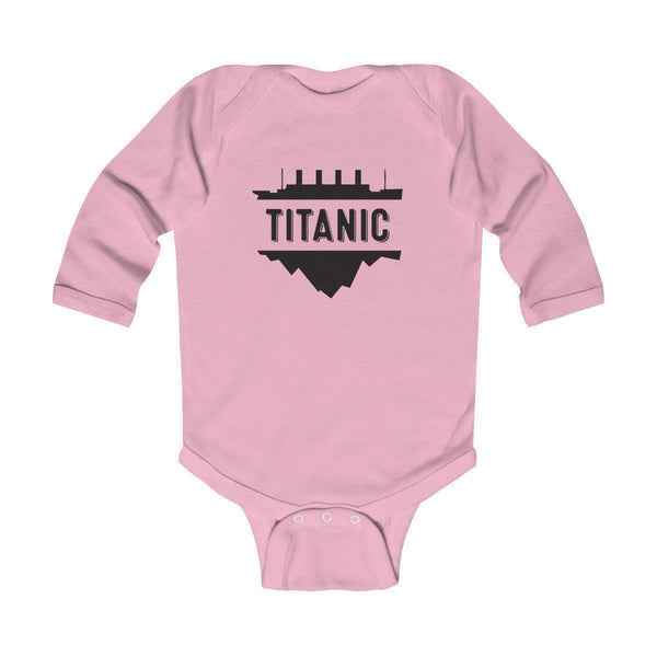 Titanic black print bodysuit, baby onesie, custom jumpsuit, vintage baby boy clothes-Kids bodysuit-Printify-titanic-big-ship-cruise-boy-gift-Titanic shop