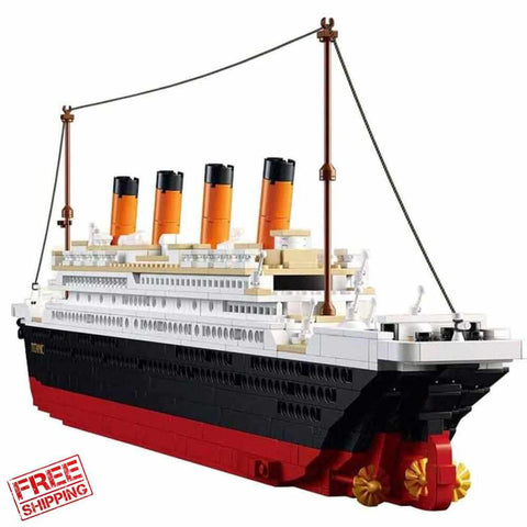 Titanic Building Block Kit 1021 Pieces Bricks-Kids toys-Titanic shop-titanic-big-ship-cruise-boy-gift-Titanic shop