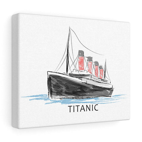 Titanic canvas gallery wrap, large canvas art, custom canvas print - gift for history buff-Wall art canva-Printify-titanic-big-ship-cruise-boy-gift-Titanic shop