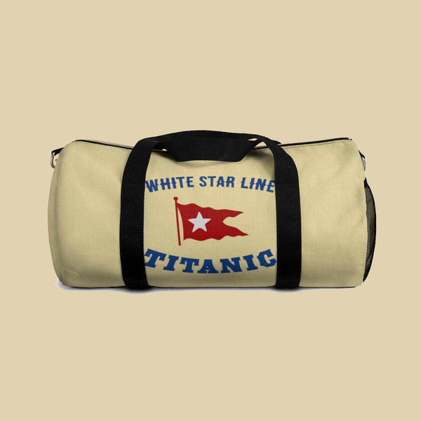 Titanic duffel bag, mixed martial arts lover gift, MMA funny bag-Duffle bag-Printify-titanic-school-tote-bag-backpack-duffel-drawstring-white-star-line-Titanic shop