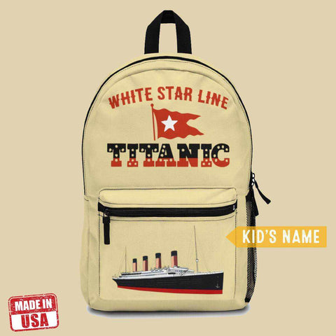 Titanic girls school bag, best school backpacks for kids, hipster backpack-School backpack-Printify-titanic-school-tote-bag-backpack-duffel-drawstring-white-star-line-Titanic shop