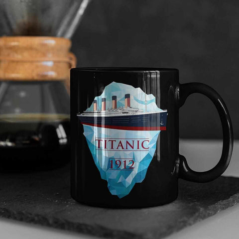 Titanic & iceberg 1912 mug, tumvler, can holder & water bottle. Titanic gift for boy-Mug-Titanic shop-latte-mug-water-bottle-tumbler-can-holder-Titanic shop