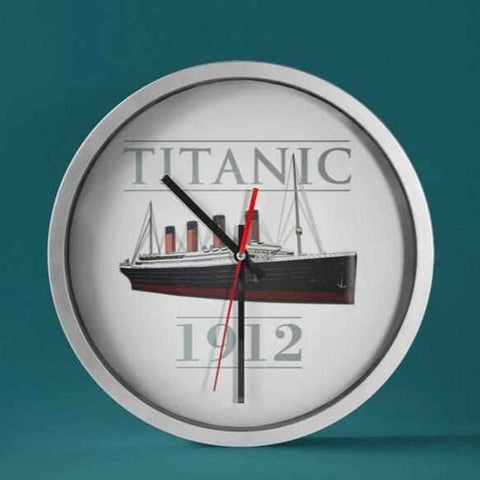 Titanic large wall clock, kitchen wall clock, unique wall clocks, Titanic personalized clock-Wall clock-Printify-titanic-big-ship-cruise-boy-gift-Titanic shop