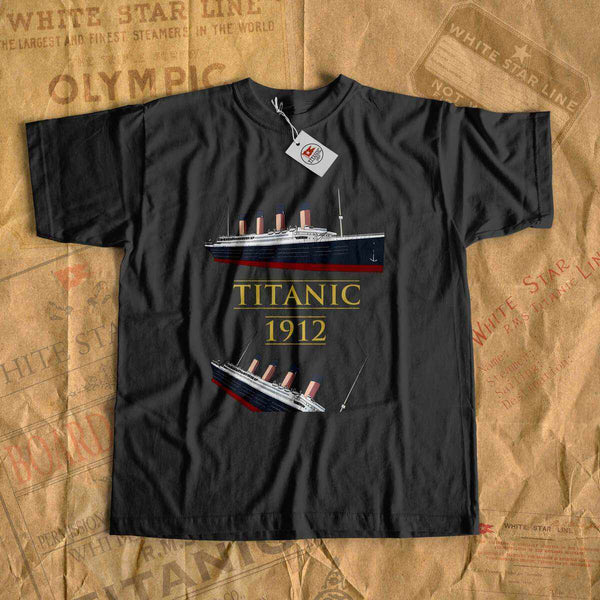 Titanic old ship sink - boys Titanic shirt, vintage kid clothes. Personalized gift for son 6 7 8 years old-T-shirt new-Titanic shop-titanic-tee-shirt-tshirt-1912-Titanic shop