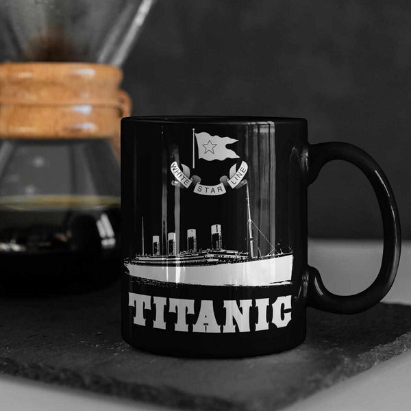 Titanic personalized water bottle, handmade ceramic mug, personalized slim can holder, stainless steel tumbler, Titanic eco friendly gift-Mug-Titanic shop-latte-mug-water-bottle-tumbler-can-holder-Titanic shop
