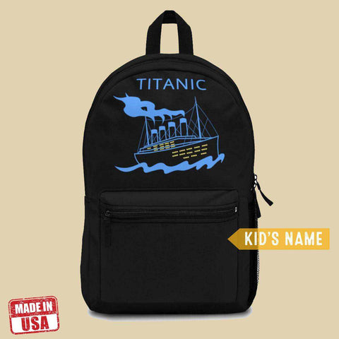 Titanic preschool backpack, school backpack for boys - personalize backpack-School backpack-Printify-titanic-school-tote-bag-backpack-duffel-drawstring-white-star-line-Titanic shop