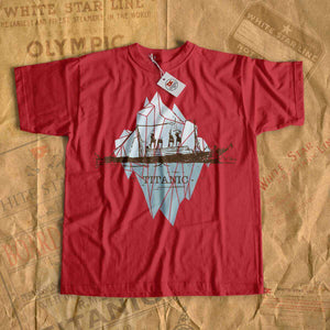 Titanic rare vintage t shirt, iceberg and old cruise liner design. Tshirt for history buff - Titanic lover, Titanic fan-T-shirt new-Titanic shop-titanic-tee-shirt-tshirt-1912-Titanic shop