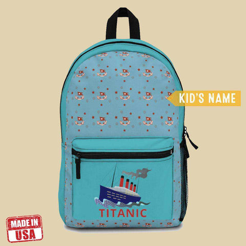 Titanic school backpack, funny travel bag, preschool backpack - gift for pupil-School backpack-Printify-titanic-school-tote-bag-backpack-duffel-drawstring-white-star-line-Titanic shop