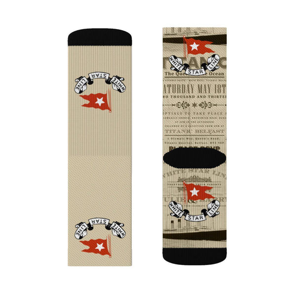 Titanic sublimation socks, vintage soft & stylish socks for boy and girl, perfect gift for kids RMS Titanic lovers-Sublimation socks-Printify-titanic-big-ship-cruise-boy-gift-Titanic shop