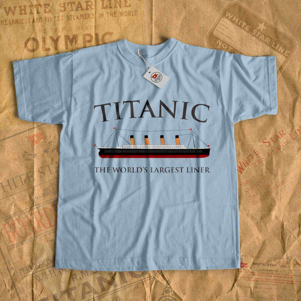 Titanic the World's largest liner t shirt - gift history buff, vintage t-shirt-T-shirt new-Titanic shop-titanic-tee-shirt-tshirt-1912-Titanic shop