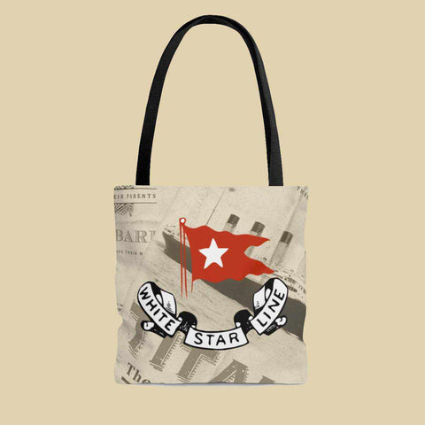 Titanic tote bag, custom tote bag, vintage summer travel bag, gift for her-Tote bag-Printify-titanic-school-tote-bag-backpack-duffel-drawstring-white-star-line-Titanic shop