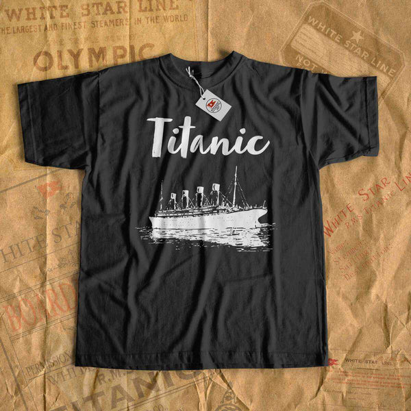 Vintage clothing Titanic, kid's 2-10 years travel shirt, Titanic party gift boy, movie t shirts-T-shirt new-Titanic shop-titanic-tee-shirt-tshirt-1912-Titanic shop