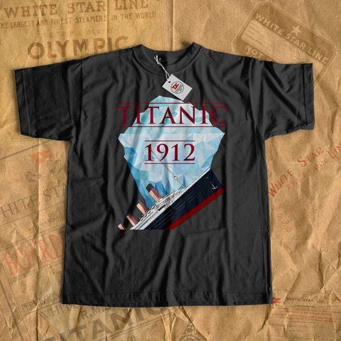 Vintage vessel sink, Titanic old ship sink - boys Titanic shirt, vintage kid clothes-T-shirt new-Titanic shop-titanic-tee-shirt-tshirt-1912-Titanic shop