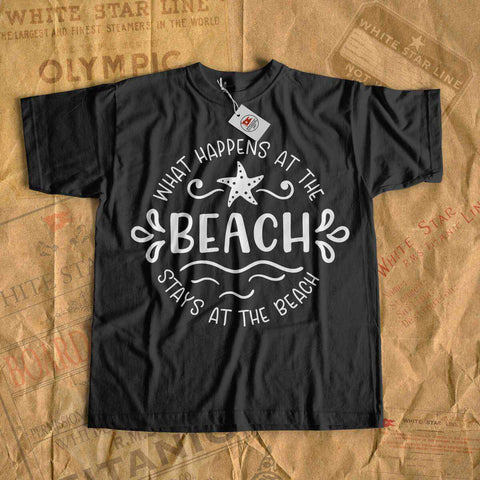 What happenes at the beach stays at the beach - vacation t shirt for boy & girl-T-shirt new-Titanic shop-cruise-sea-ocean-nautical-tee-shirt-tshirt-Titanic shop