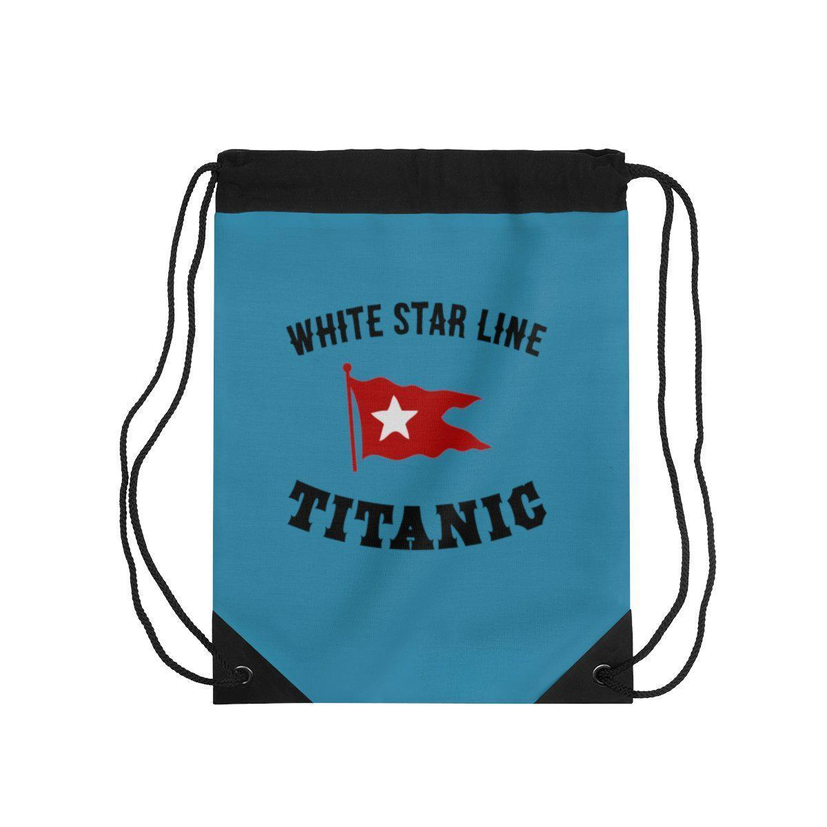White Star Line drawstring pouch, Titanic boys drawstring bag, teacher gift-drawstring bag-Printify-titanic-school-tote-bag-backpack-duffel-drawstring-white-star-line-Titanic shop