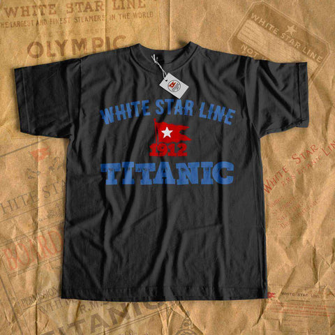 White star line tees - retro Titanic clothes. Personalized t shirt for family cruise. Tee shirt for her, gift for him-T-shirt new-Printify-cruise-sea-ocean-nautical-tee-shirt-tshirt-Titanic shop