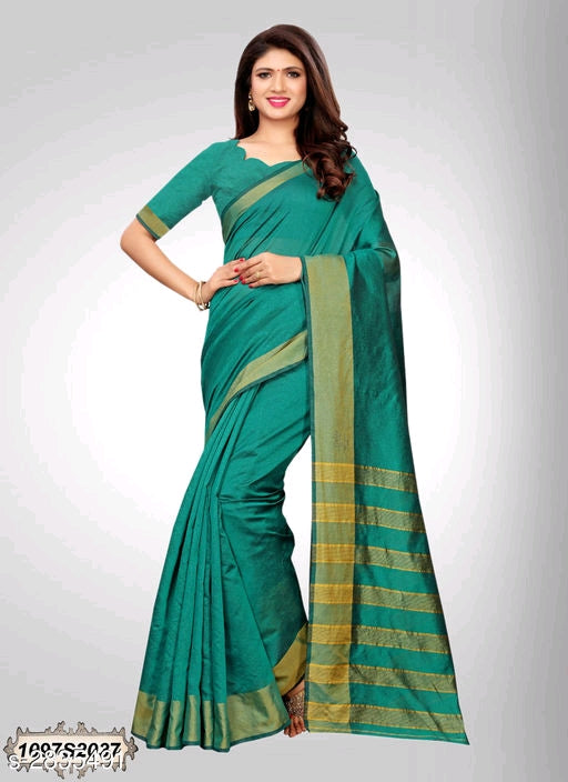 Green Chanderi Silk Saree