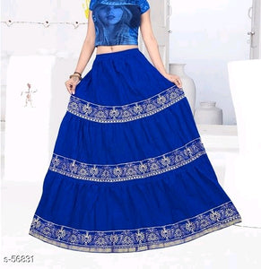 Designer blue Ethnic Skirt