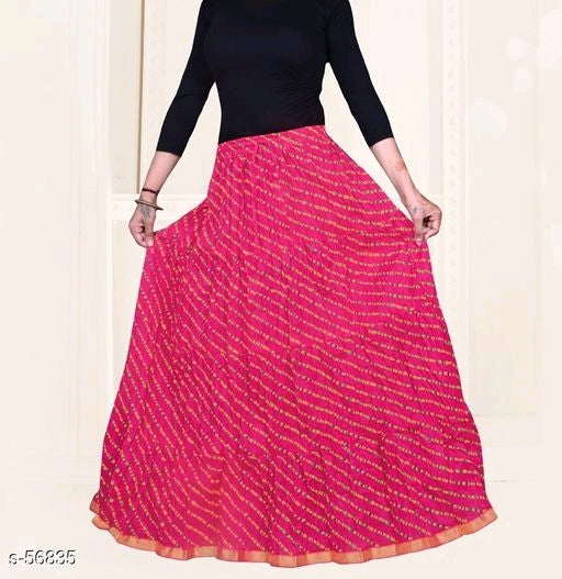 Designer Ethnic Red Classic Skirt