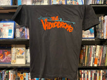 "Load image into Gallery viewer, ""The Videodrome"" Tee — Black (Unisex)"