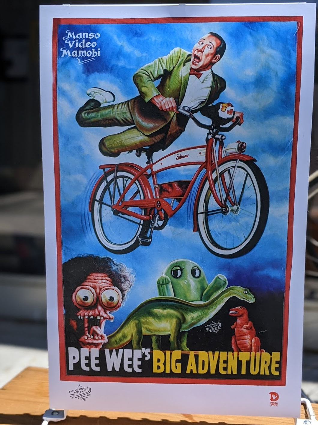 Pee Wee's Big Adventure print — Deadly Prey Gallery