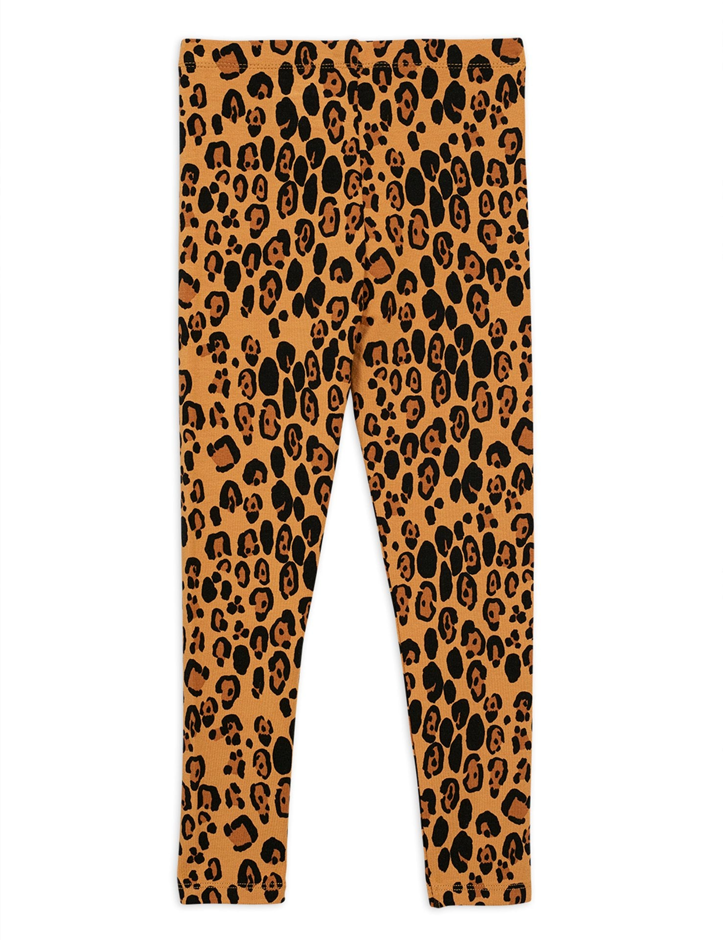 Mini Rodini Organic Cotton Basic Leopard Leggings Beige