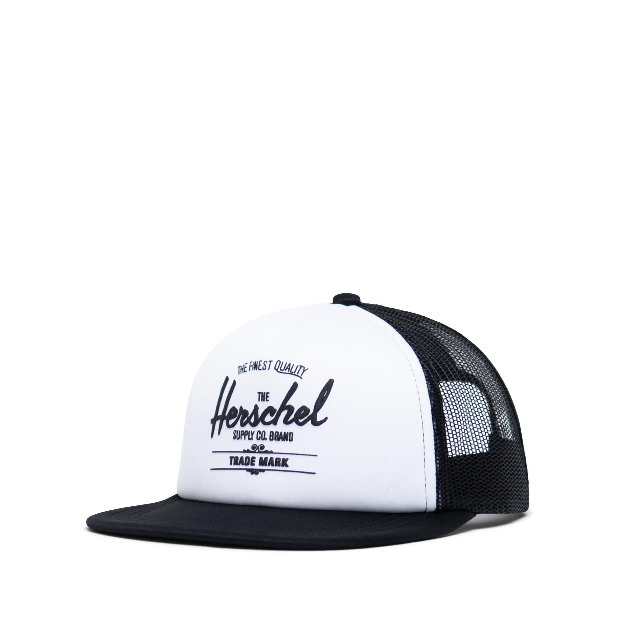 Herschel Supply Whaler Mesh Soft Brim Youth White/Black Trucker Cap