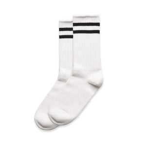 AS Colour TUBE SOCKS - White (2 PK)